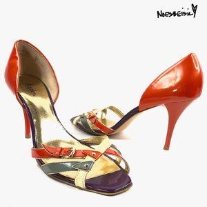 Charles David Multi Color Open Toe Heels